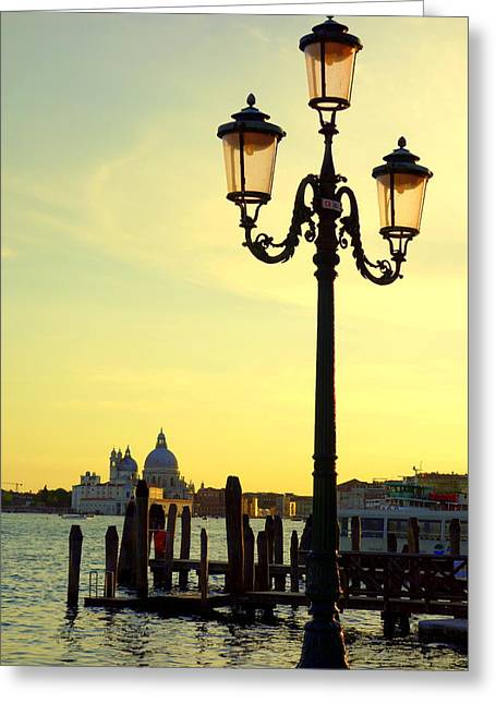 Italian Sunset Greeting Cards - Venice at Dusk Greeting Card by Valentino Visentini