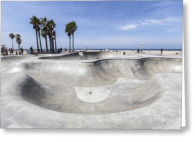 Recently Sold -  - Sea View Greeting Cards - Venice Beach California Public Skate Board Park Greeting Card by Trekkerimages Photography