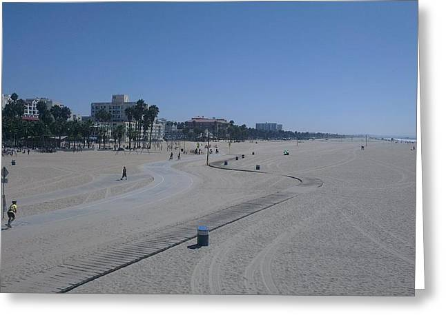 Venice Pyrography Greeting Cards - Venice Beach Greeting Card by Robert Carter