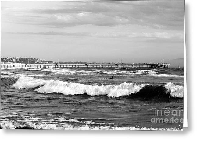 Pacific Ocean Prints Greeting Cards - Venice Beach Waves III Greeting Card by John Rizzuto