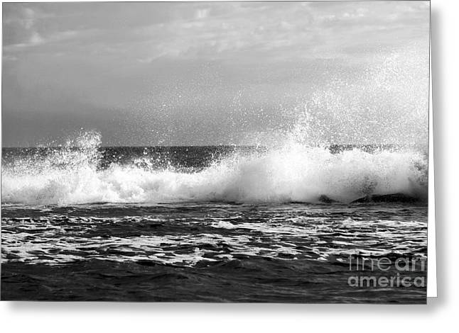 Pacific Ocean Prints Greeting Cards - Venice Beach Waves IV Greeting Card by John Rizzuto