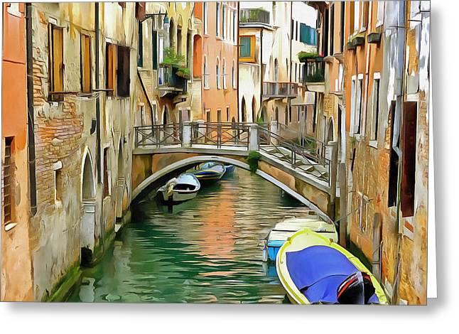 Bridge Greeting Cards - Venice Bridge Greeting Card by Bishopston Fine Art