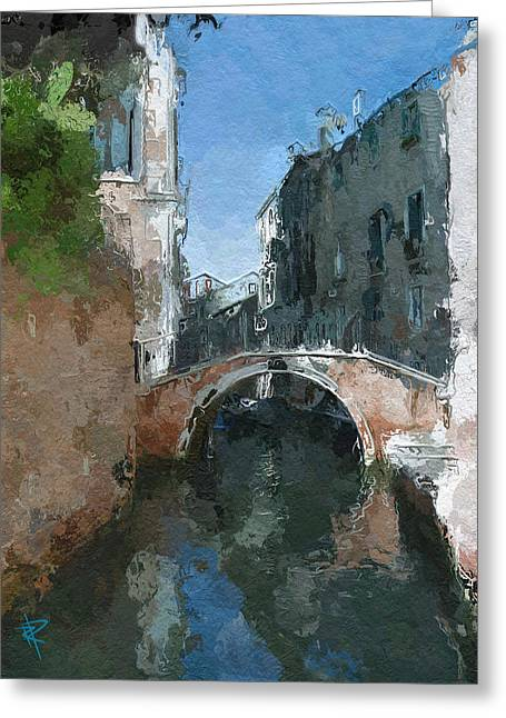 Europe Mixed Media Greeting Cards - Venice Bridge Two Greeting Card by Russell Pierce
