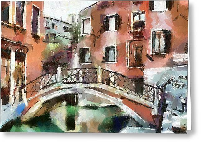 Venice Tour Greeting Cards - Venice Bridges 1 Greeting Card by Yury Malkov