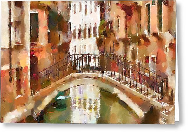 Venice Tour Greeting Cards - Venice Bridges 4 Greeting Card by Yury Malkov