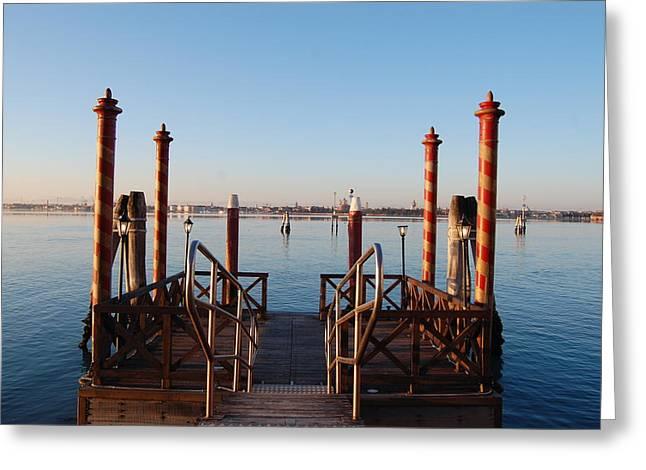 Venice  Greeting Card by C Lythgo