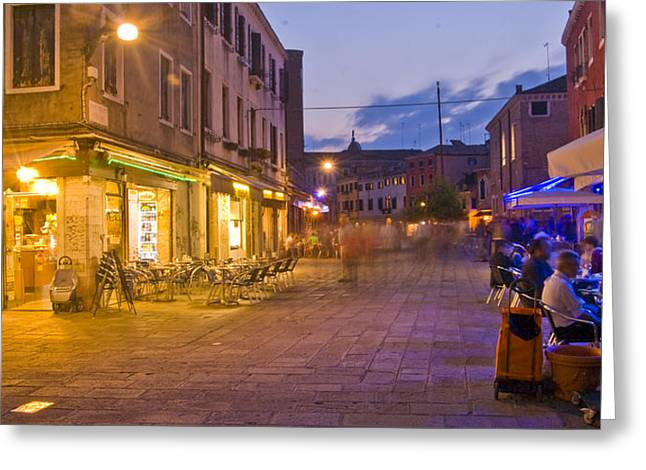 Venice - Italy Greeting Cards - Venice Cafe Greeting Card by Douglas Girard