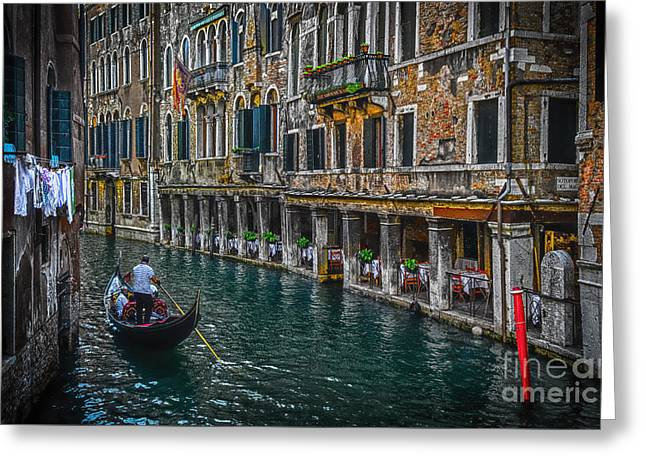Dorsoduro Greeting Cards - Venice Canal 7 Greeting Card by Paul and Helen Woodford