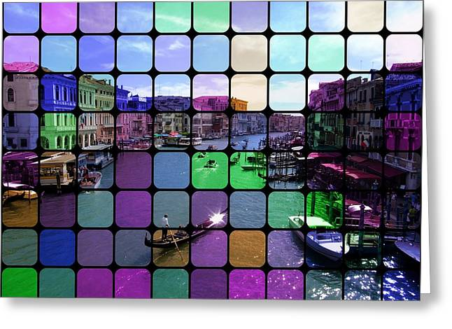 Pop Art Greeting Cards - Venice Canal Colors Greeting Card by Florian Rodarte