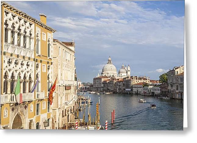 Santa Maria Greeting Cards - VENICE Canal Grande and Santa Maria della Salute Greeting Card by Melanie Viola
