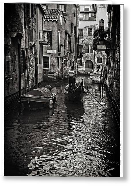 Tron Photographs Greeting Cards - Venice Canal Memory Greeting Card by Madeline Ellis