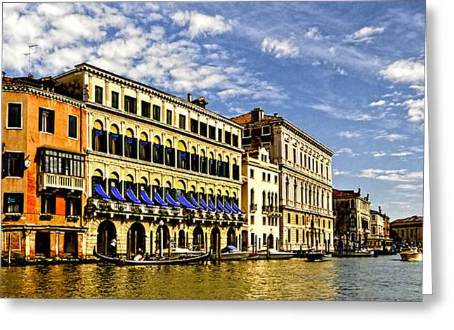 The Piazza Greeting Cards - Venice - Canal View Greeting Card by Jon Berghoff