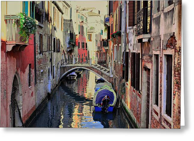 Venice Tour Greeting Cards - Venice Canals 1 Greeting Card by Yury Malkov
