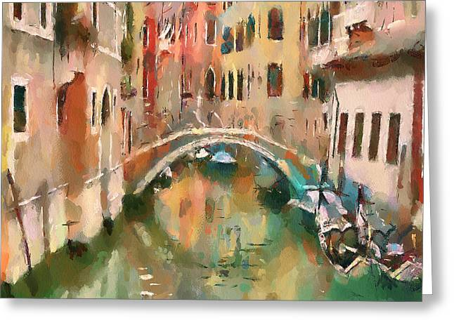 Venice Tour Greeting Cards - Venice Canals 10 Greeting Card by Yury Malkov