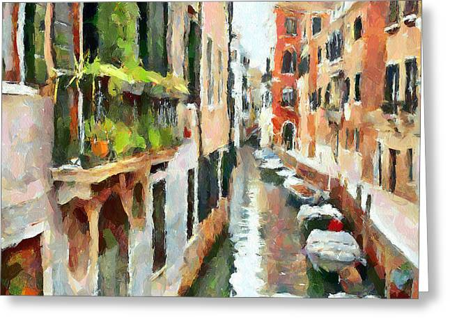 Venice Tour Greeting Cards - Venice Canals 11 Greeting Card by Yury Malkov