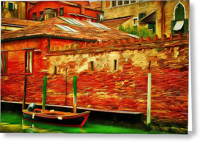 Live Art Greeting Cards - Venice Canals 18 Greeting Card by Yury Malkov