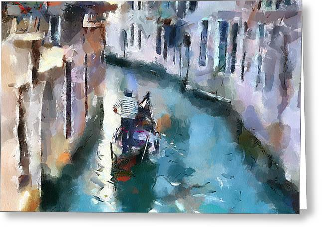 Venice Tour Greeting Cards - Venice Canals 6 Greeting Card by Yury Malkov