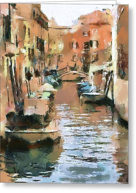 Venice Tour Greeting Cards - Venice Canals 7 Greeting Card by Yury Malkov