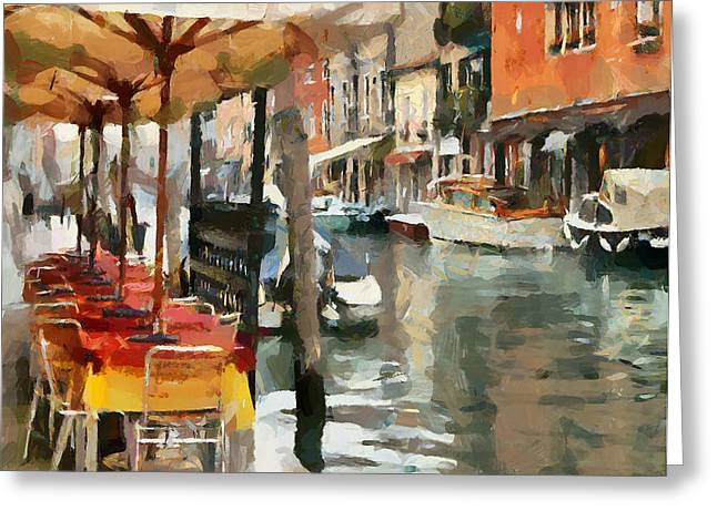 Venice Tour Greeting Cards - Venice Canals 8 Greeting Card by Yury Malkov