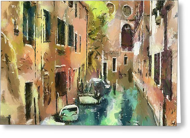 Venice Tour Greeting Cards - Venice Canals 9 Greeting Card by Yury Malkov