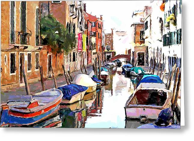 Venice Tour Greeting Cards - Venice Cannals Greeting Card by Yury Malkov