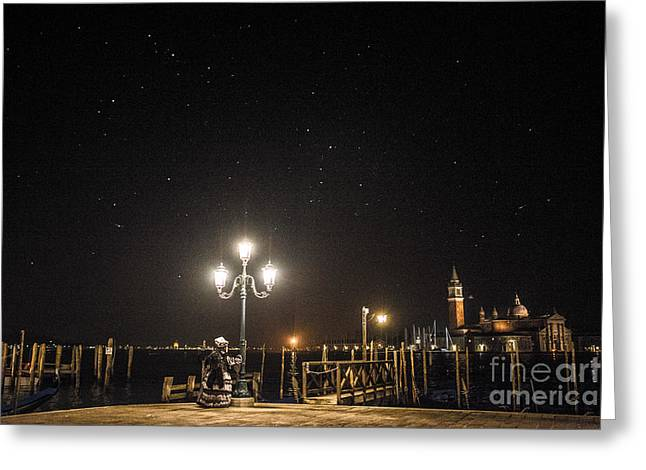 Night Photography Greeting Cards - Venice carnival 15 II Greeting Card by Yuri Santin
