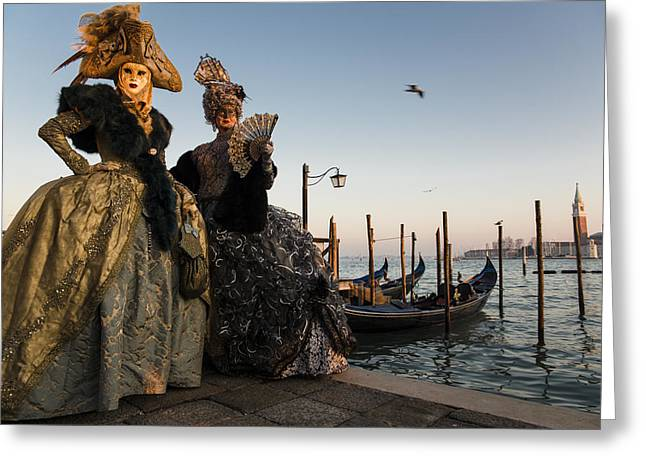 Venice Greeting Cards - Venice carnival 15 III Greeting Card by Yuri Santin