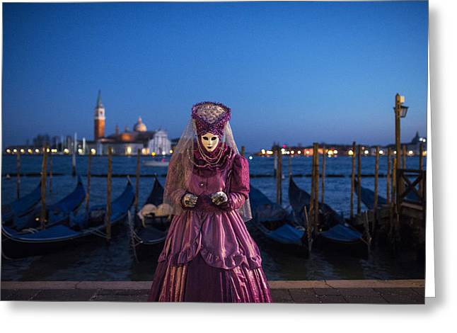 Venice Greeting Cards - Venice carnival 15 V Greeting Card by Yuri Santin