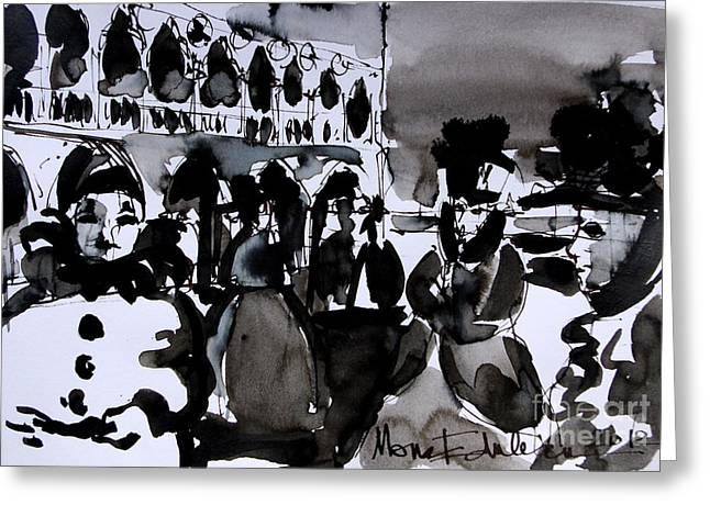 Mona Edulescu Greeting Cards - Venice Carnival 3 Greeting Card by Mona Edulesco