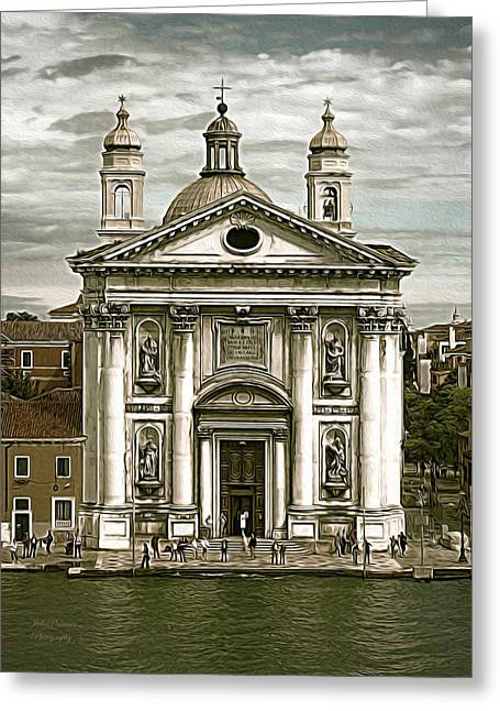 Most Greeting Cards - Venice City of Churches Greeting Card by Julie Palencia