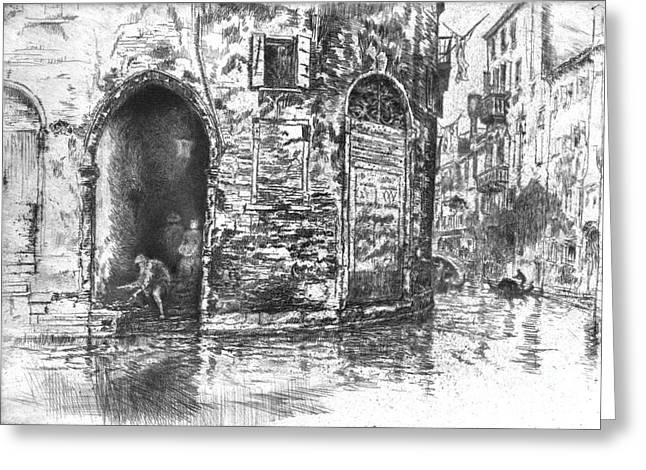 Venice Doorways 1880 Greeting Card by Padre Art