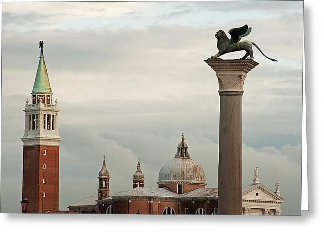 Campanile Di San Marco Greeting Cards - Venice Greeting Card by Doug Davidson