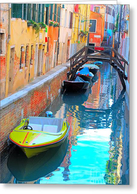 Fineartamerica Greeting Cards - Venice Greeting Card by Eva Kaufman