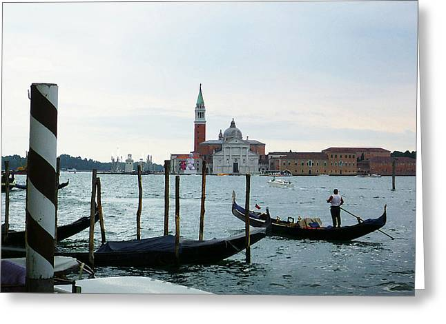 Italy History Greeting Cards - Venice Evening Last Gondola Ride Greeting Card by Irina Sztukowski