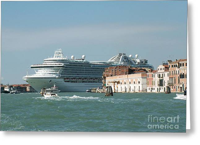Italian Sunset Greeting Cards - Venice Greeting Card by Evgeny Pisarev