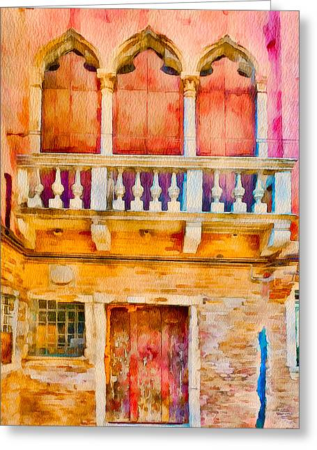 Gondolier Greeting Cards - Venice Facades 9 Greeting Card by Yury Malkov