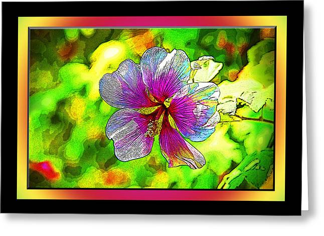 Staley Greeting Cards - Venice Flower - Framed Greeting Card by Chuck Staley