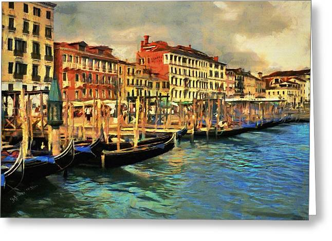 Venice From The Water Greeting Card by Jeff Kolker
