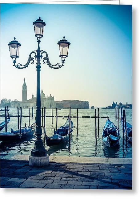 Venice Gondolas Greeting Card by Mr Doomits