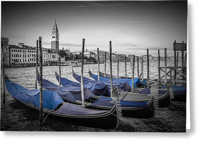 Colourkey Greeting Cards - VENICE Grand Canal and St Marks Campanile Greeting Card by Melanie Viola