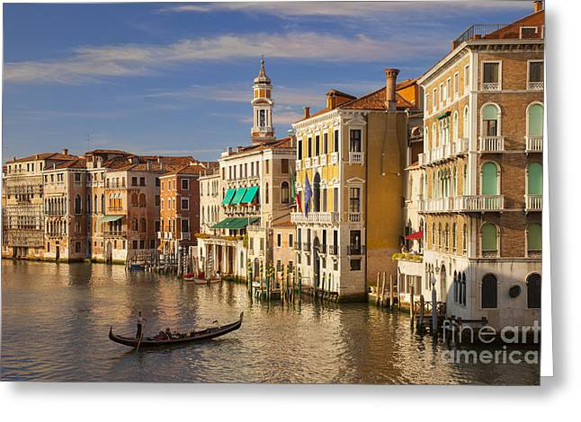 Romance Renaissance Greeting Cards - Venice Grand Canal Greeting Card by Brian Jannsen
