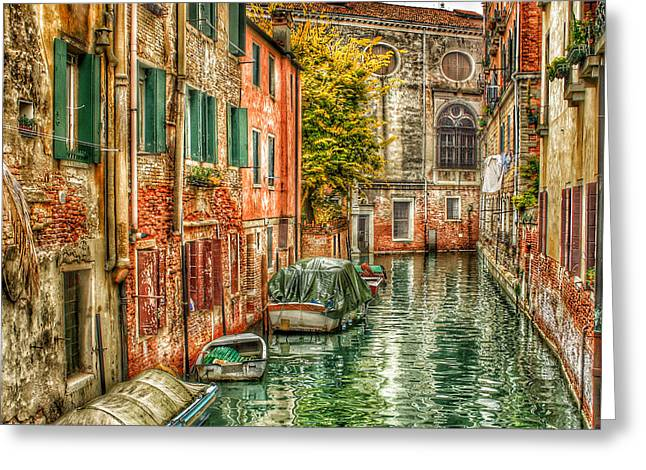 Gondolier Greeting Cards - Venice HDR Beauty 2 Greeting Card by Yury Malkov