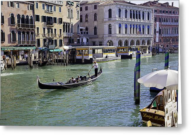 Gondolier Greeting Cards - Venice Holiday Greeting Card by Madeline Ellis