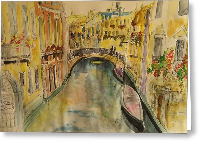 Venice I. Greeting Card by Paula Steffensen