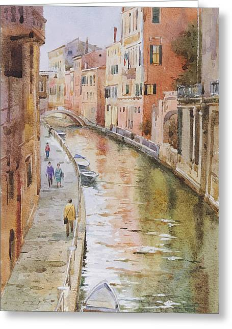 Venice In October Greeting Card by Andrii Gerasymiuk
