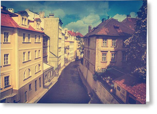 Lomo Colors Greeting Cards - Venice in Prague Greeting Card by Taylan Soyturk