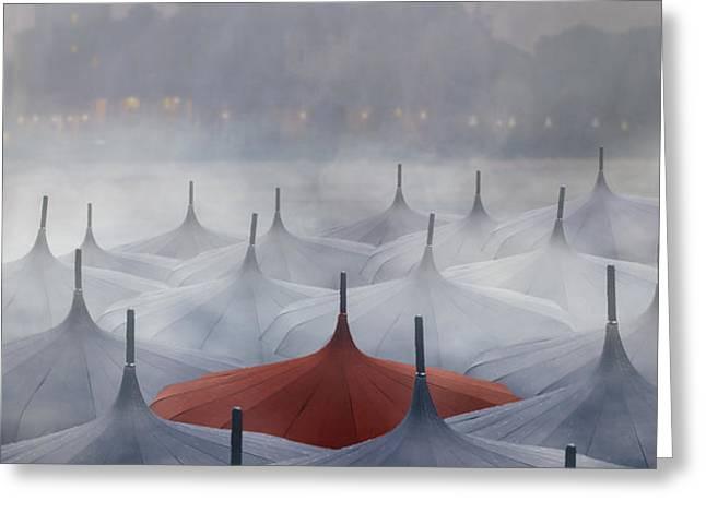 Venice in rain Greeting Card by Joana Kruse