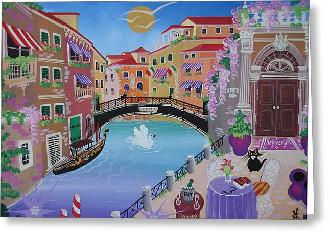 Italy Canal Greeting Cards - Venice, Italy, 2013 Greeting Card by Herbert Hofer