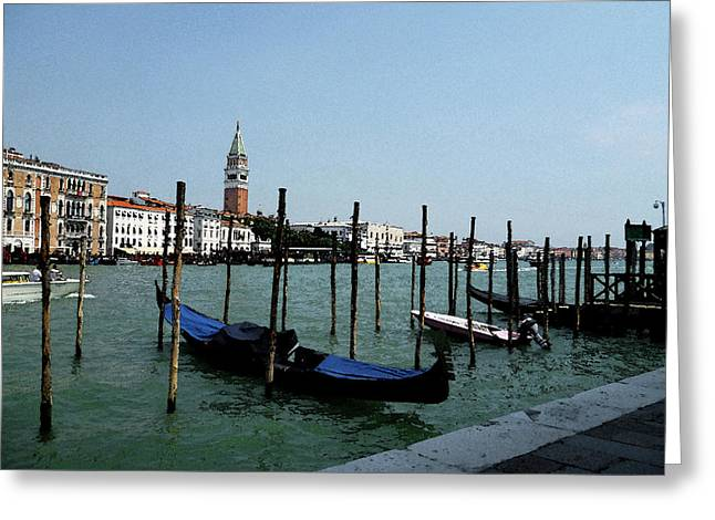 Canale Greeting Cards - Venice Italy Gondola View on Doge Palace Greeting Card by Irina Sztukowski