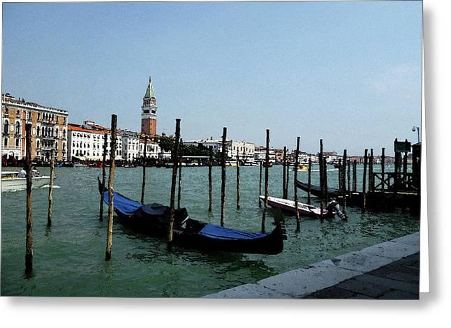 Venice Italy Gondola View On Doge Palace Greeting Card by Irina Sztukowski